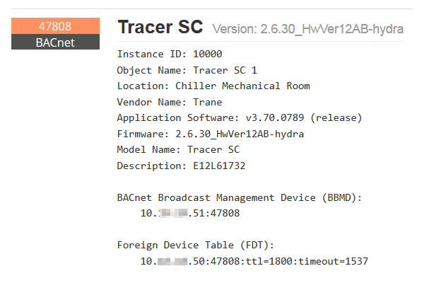 Tracer SC Details Page